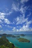 Groep eilanden Angthong Royalty-vrije Stock Afbeeldingen