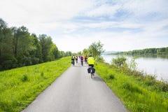 Groep fietsers Stock Afbeelding