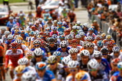 groep fietsers in actie Stock Foto's