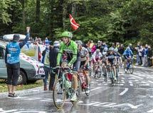 Groep Fietsers - Ronde van Frankrijk 2014 Royalty-vrije Stock Foto