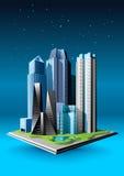 Groep gebouwen stock illustratie
