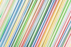Groep gekleurd stro Stock Foto's