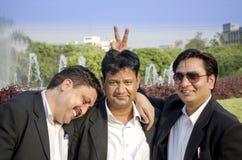 Groep gelukkige bedrijfsvrienden Stock Foto