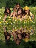 Groep gelukkige het glimlachen jonge geitjes Royalty-vrije Stock Fotografie