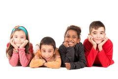 Groep gelukkige jonge geitjes royalty-vrije stock foto