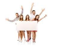 Groep gelukkige studenten Royalty-vrije Stock Foto