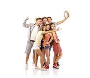 Groep gelukkige studenten Stock Afbeeldingen