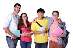 Groep gelukkige studenten Stock Fotografie