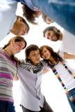 Groep gelukkige vrienden Stock Fotografie
