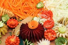 Groep gesneden groenten Royalty-vrije Stock Foto