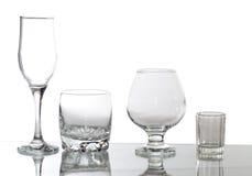 Groep glazen Royalty-vrije Stock Foto
