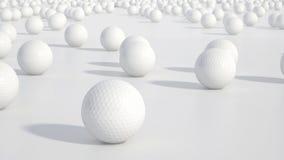 Groep golfballen Royalty-vrije Stock Afbeelding