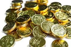 Groep gouden muntstukken Stock Foto