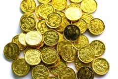 Groep gouden muntstukken Stock Fotografie