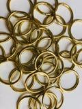 Groep gouden ring stock foto