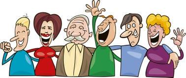 Groep grappige mensen Stock Foto