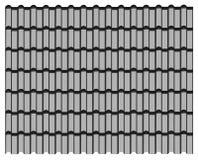 Groep grijs tegelsdak, de grijze achtergrond van de patroontextuur Royalty-vrije Stock Foto's