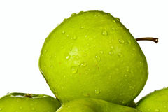 Groep groene appelen Stock Foto's