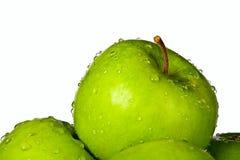 Groep groene appelen Stock Fotografie