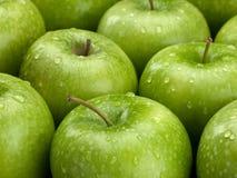 Groep groene appelen royalty-vrije stock foto's