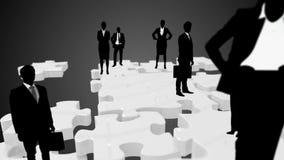Groep het bedrijfsmensen samenkomen vector illustratie