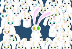 Groep het Concept van Konijnenbunny eggs eyes easter holiday Stock Afbeelding