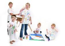 Groep het Schilderen van Jonge geitjes Royalty-vrije Stock Foto