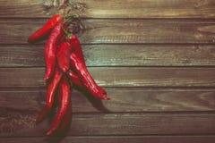 Groep hete Spaanse peper Stock Afbeelding