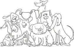 Groep honden voor het kleuren Royalty-vrije Stock Foto