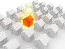 Groep huizen op verkoop Royalty-vrije Stock Afbeeldingen