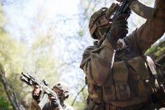 Groep intelligentie op oorlog stock afbeelding