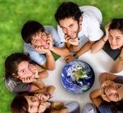 Groep jonge ecologisten Royalty-vrije Stock Afbeelding