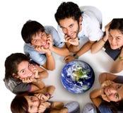 Groep jonge ecologisten Stock Afbeeldingen