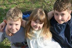 Groep jonge geitjes Royalty-vrije Stock Foto