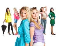Groep jonge meisjes Stock Afbeelding