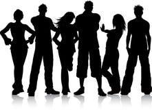 Groep jonge mensen royalty-vrije illustratie
