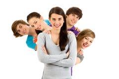 Groep jonge mensen Stock Foto