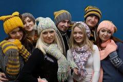 Groep jonge mensen het glimlachen Royalty-vrije Stock Afbeeldingen