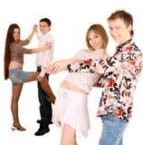 Groep jonge mensendans. royalty-vrije stock foto's