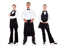 Kelner en serveerster Royalty-vrije Stock Foto's