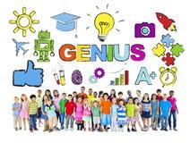 Groep Kinderen en Onderwijsconcept royalty-vrije stock foto