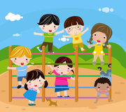 Groep kinderen het spelen Royalty-vrije Stock Foto's