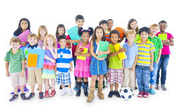 Groep Kinderen met Als thema gehad Onderwijs Stock Afbeelding