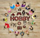 Groep Kinderen met Verschillende Activiteiten royalty-vrije stock afbeelding