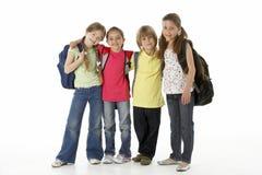 Groep kinderen in Studio royalty-vrije stock afbeeldingen