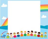Groep kindereninzameling Stock Afbeelding
