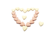 Groep kleine harten. Royalty-vrije Stock Afbeeldingen