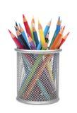 Groep kleurenpotloden Royalty-vrije Stock Afbeeldingen