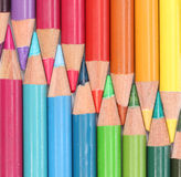 Groep kleurenpotloden Stock Afbeelding