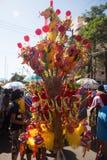 Groep kleurrijk Chinees draakstuk speelgoed stock foto